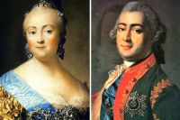 Елизавета Петровна и Алексей Григорьевич Разумовский.