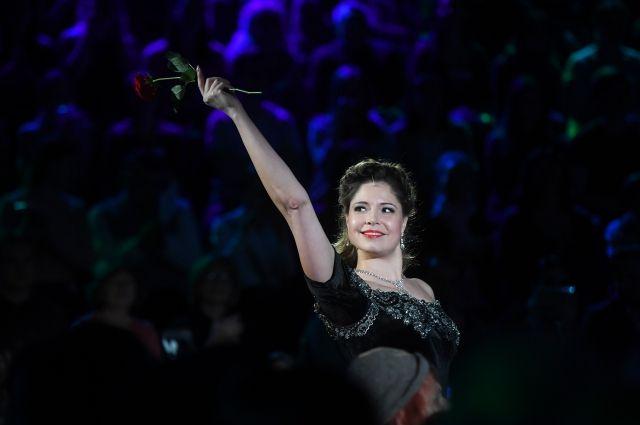 Актеры театра «Геликон-опера» во время представления «Ночи театров»