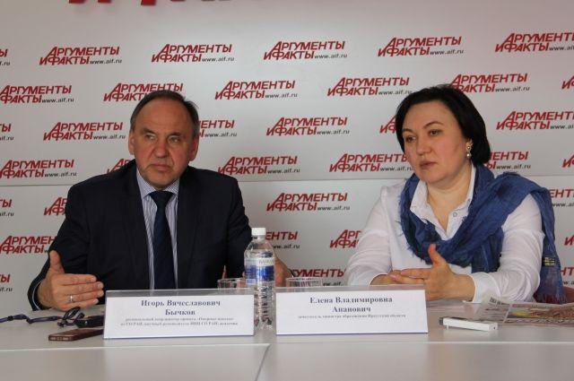 Игорь Бычков и Елена Апанович.
