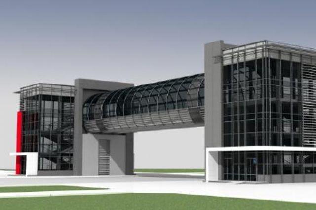 Проект надземного перехода. Целое здание, чтобы оказаться на другом конце дороги.