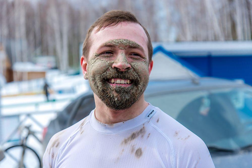 Владимир Петров на финише 43 км.