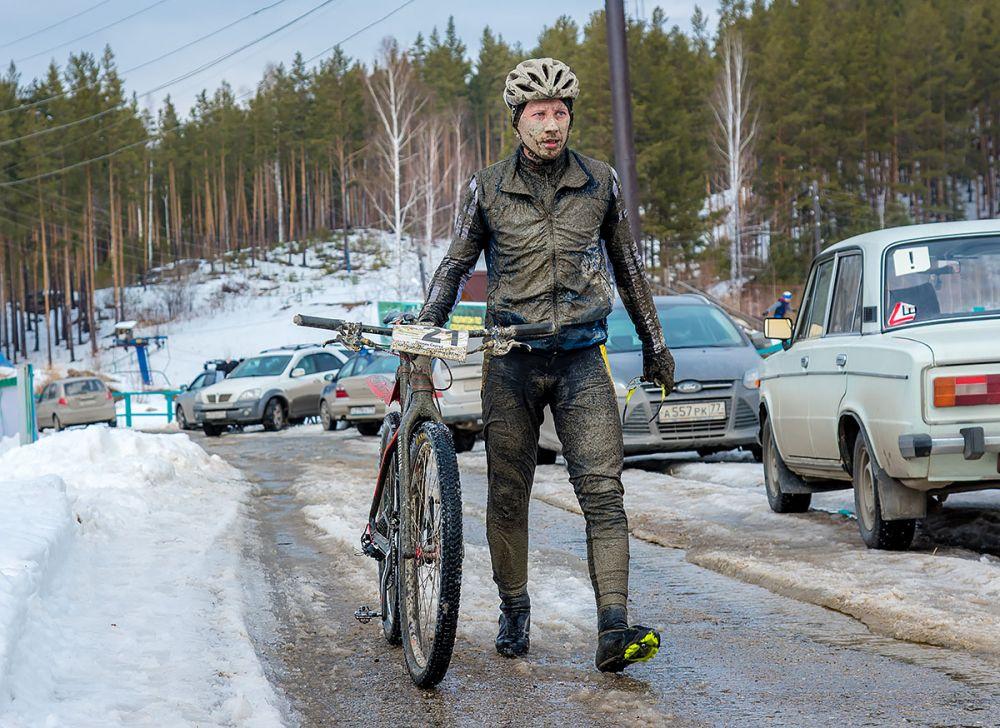 Сергей Прокин на финише 43 км.