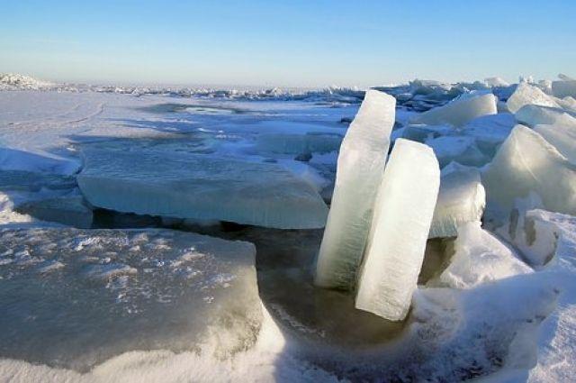 Четырех детей едва не унесло в открытое море на льдине в Магадане.