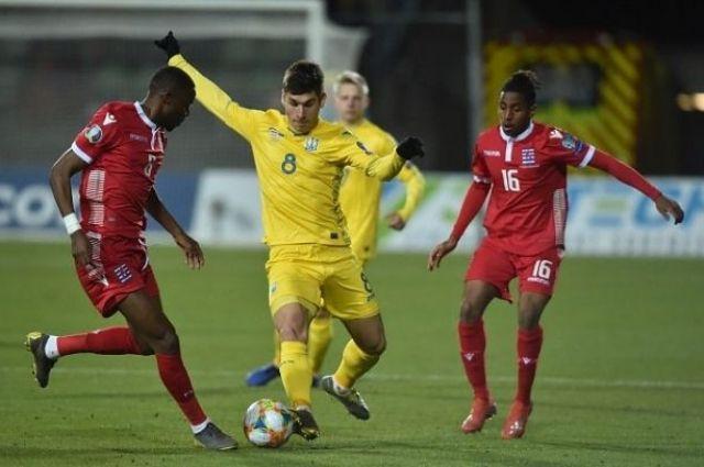 Сборная Украины стала лидером группы в отборе на Евро-2020