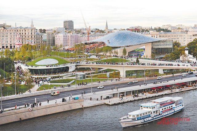«Зарядье» – первый парк, появившийся за 200 лет в центре Москвы.