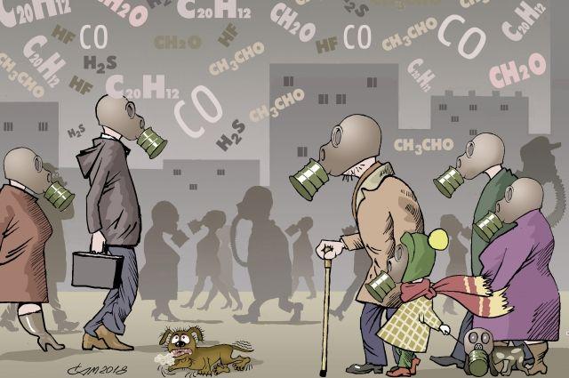 В Октябрьском районе, по информации общественников, был зафиксирован самый высокий уровень загрязнения