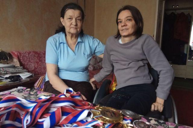 Юлия Мошева с мамой Верой Николаевной