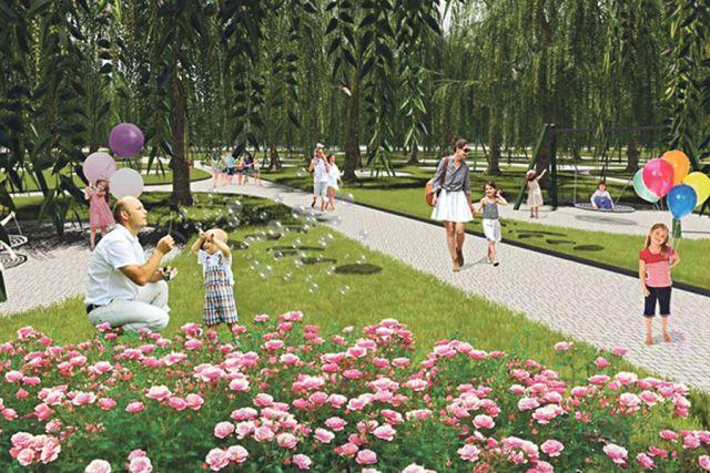 Визуализация Центрального пляжа на реке Северский Донец.