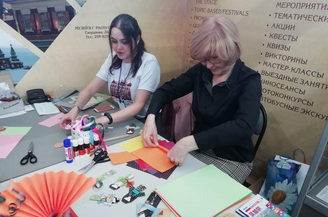 На выставке проходят различные мастер-классы.