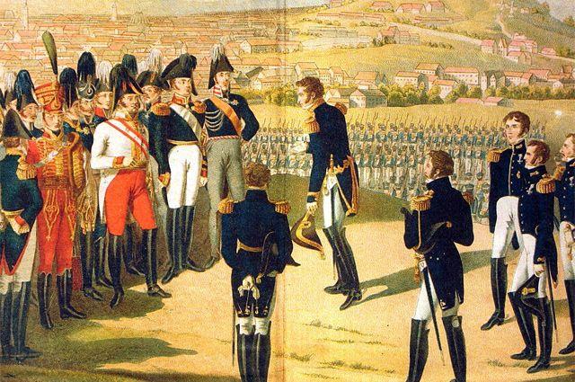 Александр I принимает капитуляцию Парижа.