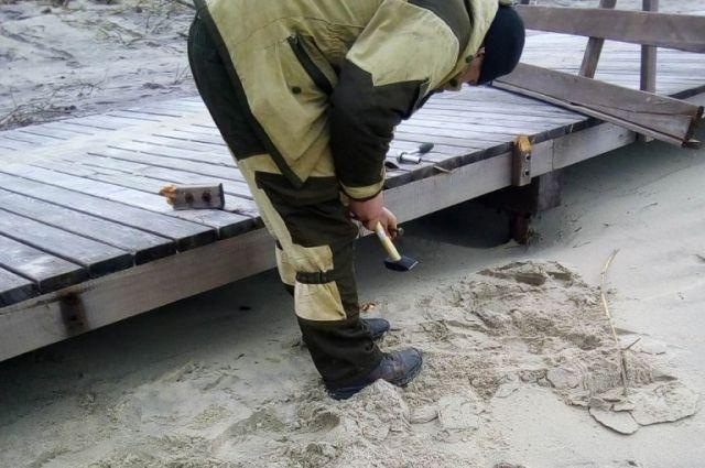 В посёлке Лесной начался ремонт променада