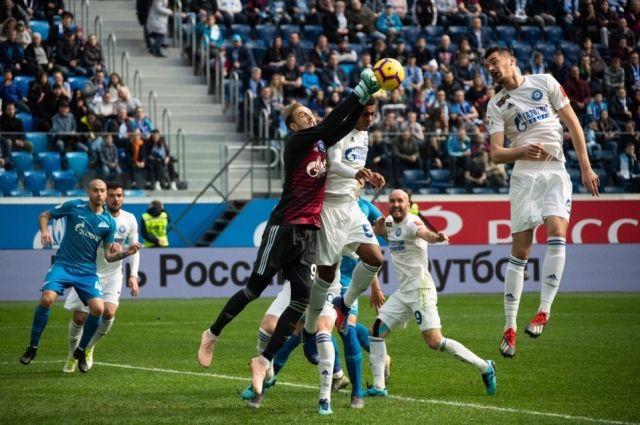 ФК «Оренбург» со счетом 3:1 уступил «Зениту»