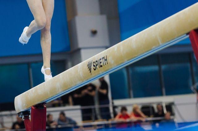 В тюменском «Строймаше» прошло соревнование юных гимнасток