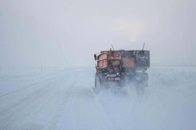 Часть зимней трассы Лабытнанги - Мужи - Азовы - Теги опасна для проезда