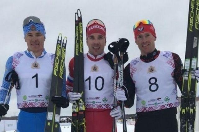 В мужском скиатлоне на 30 км спортсмен краевой Академии зимних видов спорта Андрей Мельниченко финишировал третьим