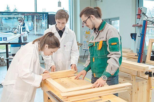 Мастерская столярных и плотницких работ в образовательном комплексе «Техноград» на ВДНХ.