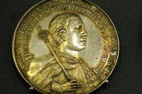 Монета 1606 г. с портретом Лжедмитрия I.