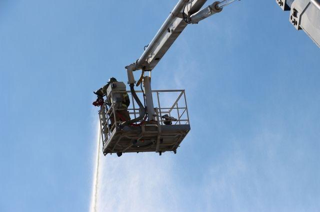 На «Цепруссе» произошло возгорание площадью 1,3 тыс. квадратных метров
