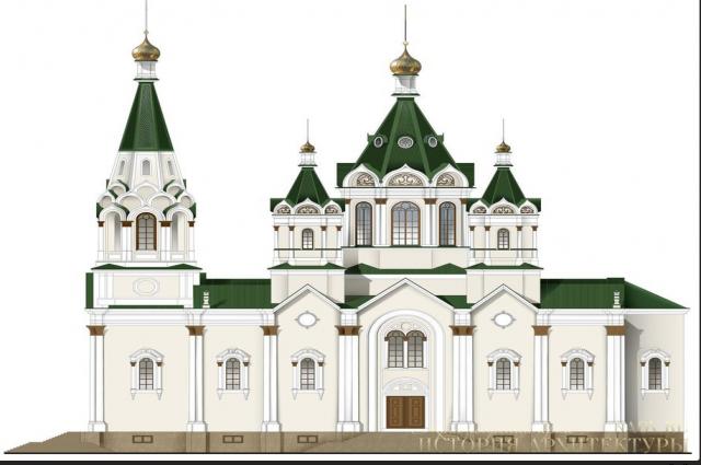 Епархия просит расширить территорию под строительство собора.