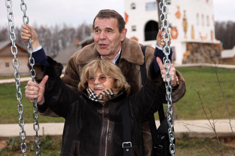Режиссер Алла Сурикова и актер Алексей Булдаков. 2009 г.