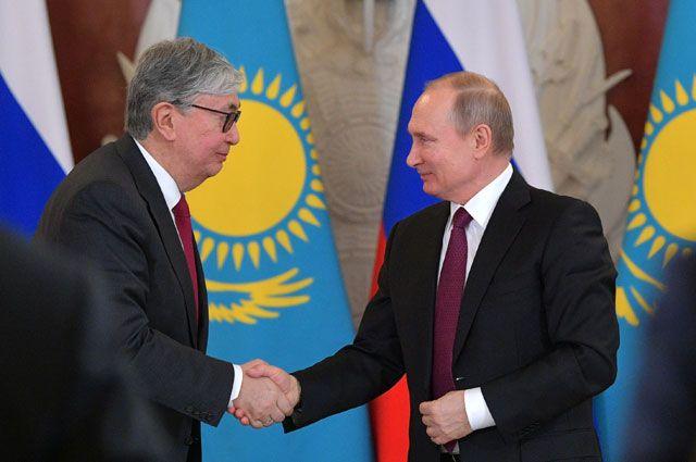 Касым-Жомарт Токаев и Владимир Путин.