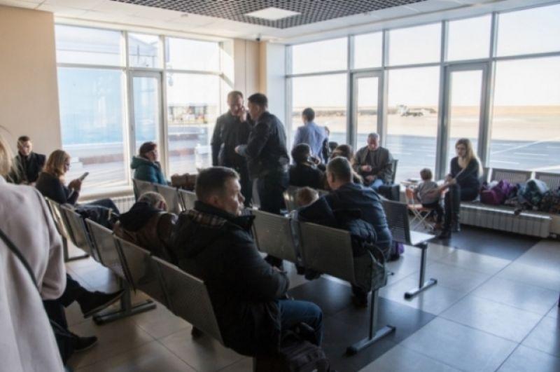 Зал ожидания в аэропрту Калуги