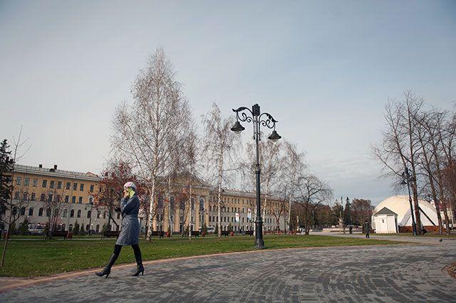 Ново-Соборная площадь в Томске.