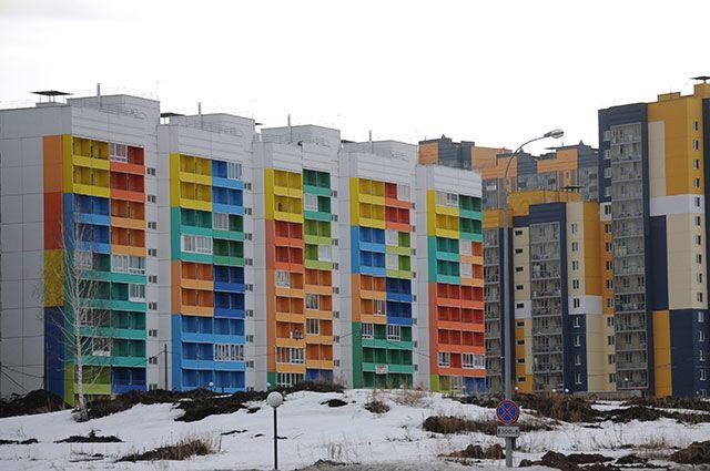 Микрорайон в Томске.
