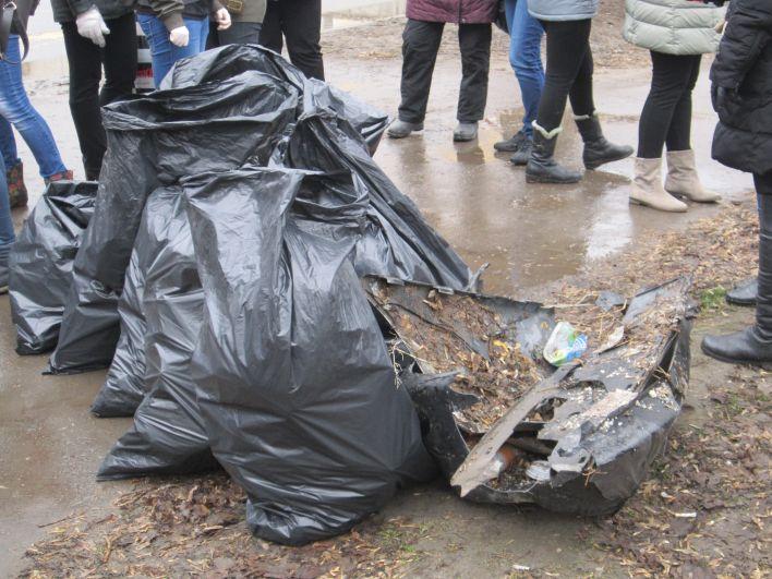 На фото - далеко не весь мусор, который удалось собрать.
