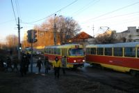 Трамваи - транспорт современного города.