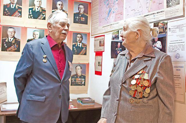 Ветераны создали в совете свой небольшой музей, посвящённый героям.