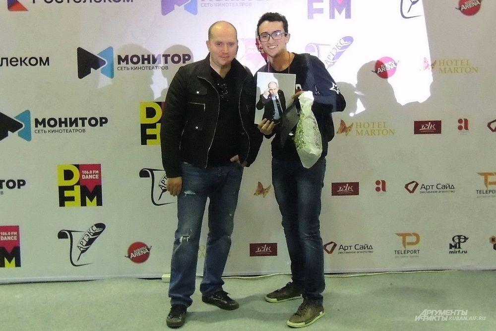 Фотосессия с гостем фестиваля, актёром Сергеем Буруновым.