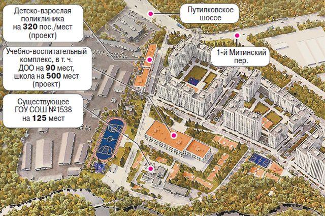 Проект планировки территории посёлка Новобратцевский района Митино.
