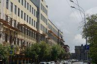 Улица Шостаковича в Самаре (в советское время - г. Куйбышев). В доме № 5 работал композитор в годы войны. Слева здание института культуры.