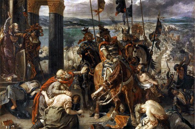 «Взятие Константинополя крестоносцами».