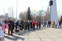 Митинг собрал несколько десятков неравнодушных жителей Рабочего посёлка.