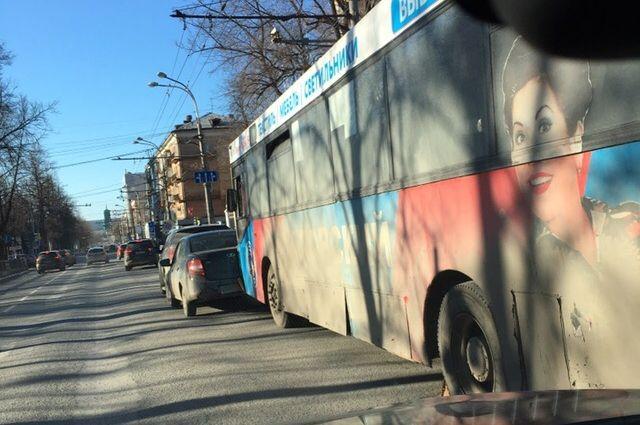 Авария произошла возле Парка им. Горького  вечером в воскресенье.