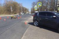 В ДТП на ул. А. Суворова пострадал мотоциклист