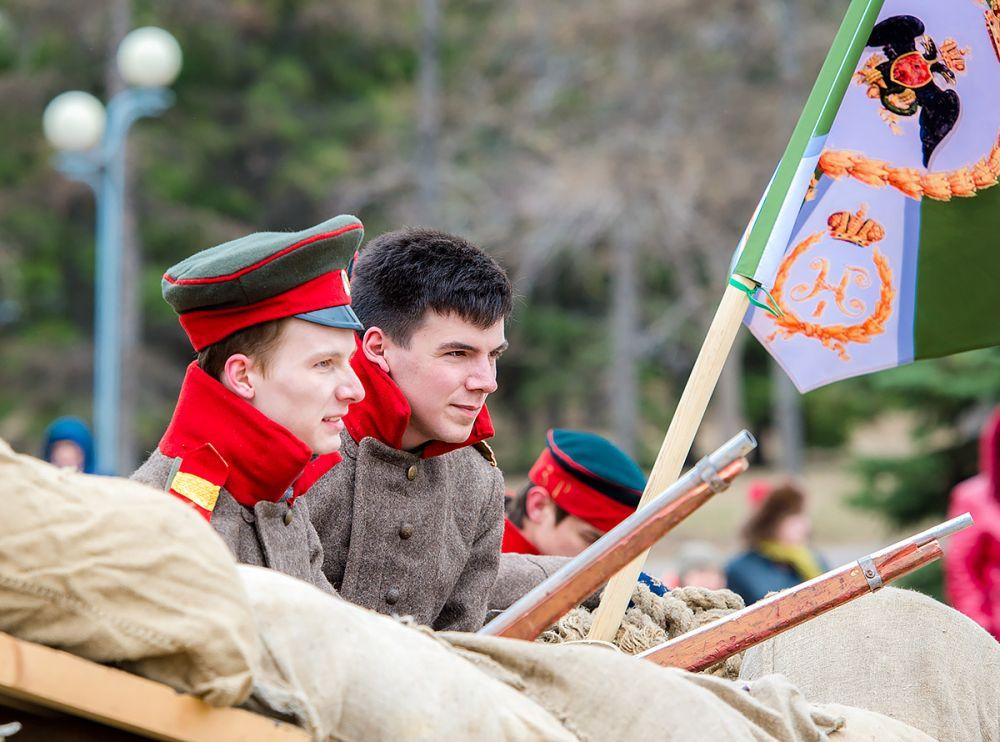 Русские отражают натиск врага