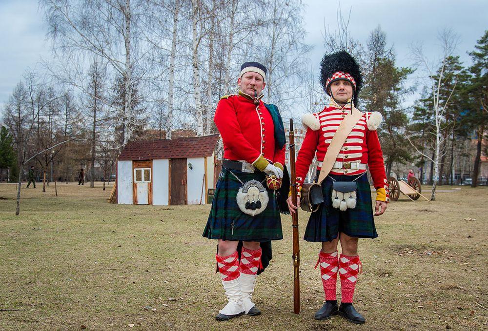 Шотландские солдаты и перед боем