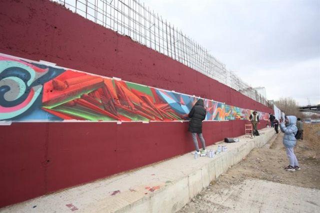 Новое граффити на правобережье.
