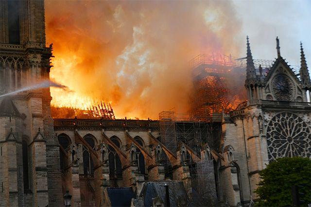 Пожар в соборе Парижской Богоматери. 15 апреля 2019 г.