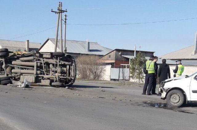 В Орске произошло ДТП с пассажирской