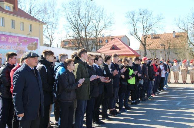Призывников из Калининграда торжественно проводили на военную службу