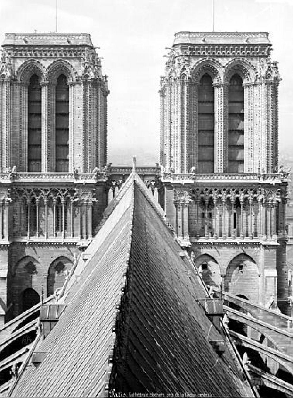 Башни, вид с крыши собора (фотоснимок, 1892).