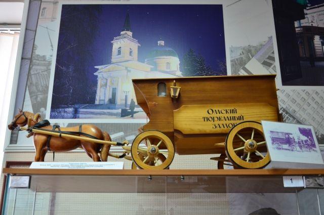 Все экспонаты музея выполнены руками осуждённых. Так выглядел конный экипаж для перевозки подозреваемых и обвиняемых.