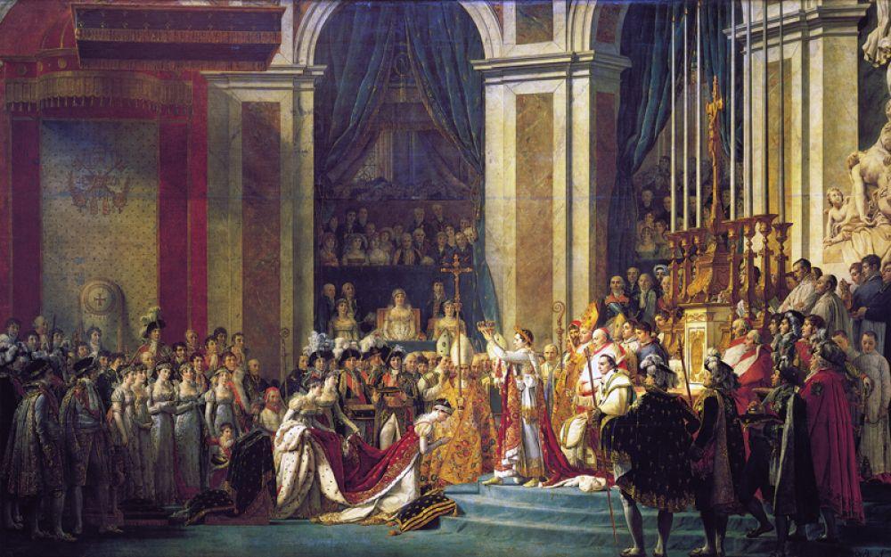 Именно здесь в 1804 году Наполеон Бонапарт был коронован императором французов. Знаменитая сцена на картине Жака Луи Давида происходит в хоре собора.
