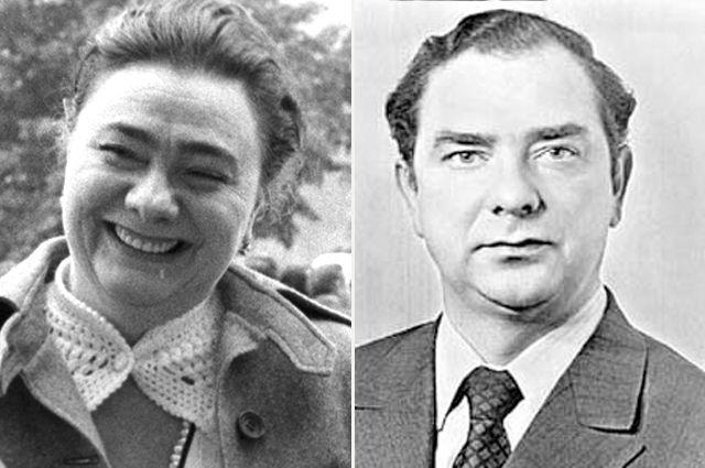Галина и Юрий Брежневы.