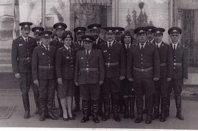 Сотрудники калужского уголовного розыска в 1985 году.