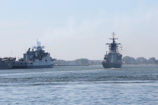 Силы Балтфлота организовали слежение за группой кораблей НАТО